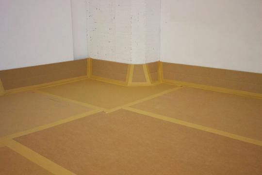 cardboard tarp for painting