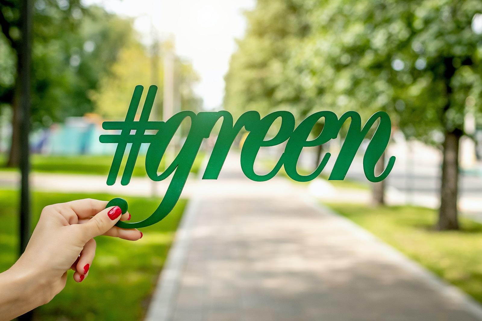 Business recycling program go green